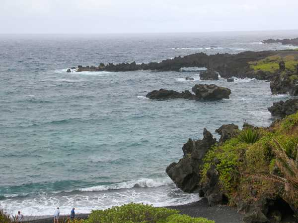 Waianapanapa black sand beach - Hana Highway