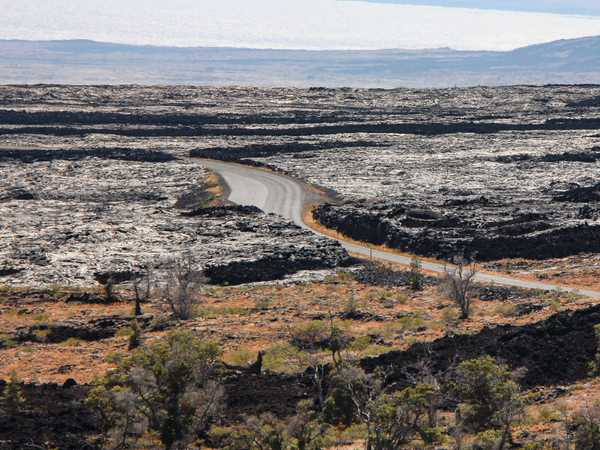 Lava field lungo la Chain of Craters Road - Hawaii Big Island