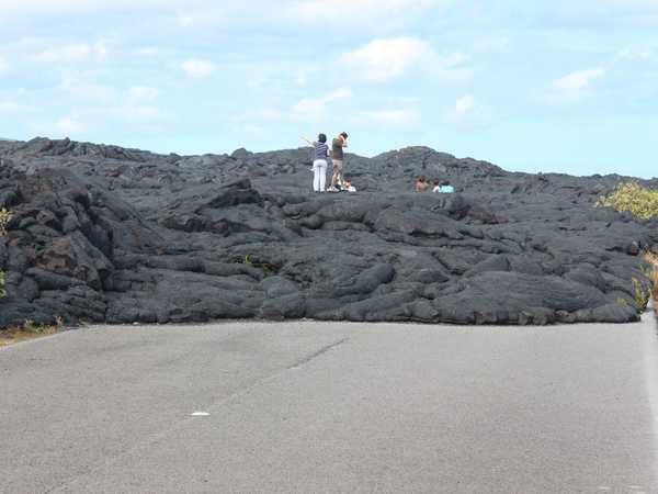 Ooppss! Qui finisce la Chain of Craters Road - Hawaii Big Island