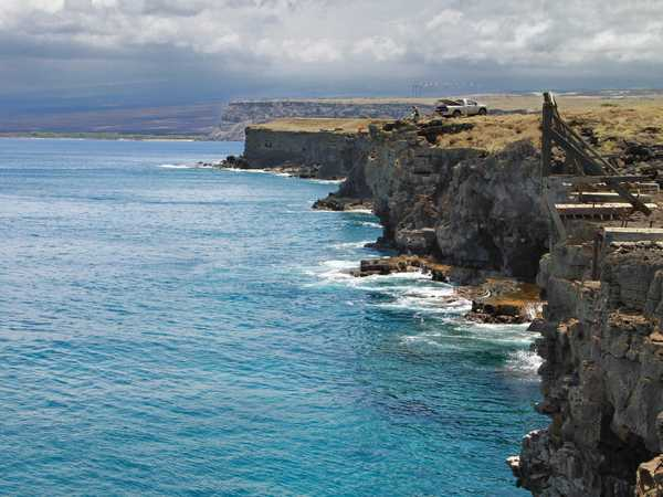 Kau South Point Cliffs - Hawaii Big Island