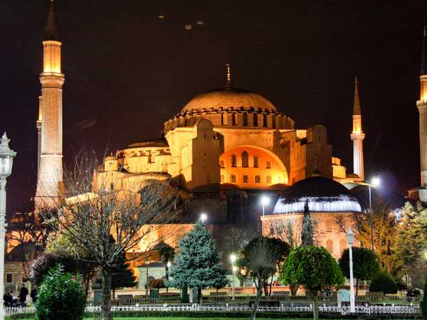 Aghia Sofia by night